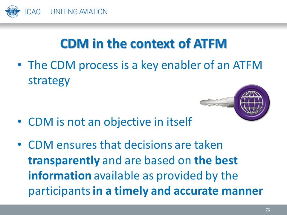 CDM in the context of ATFM