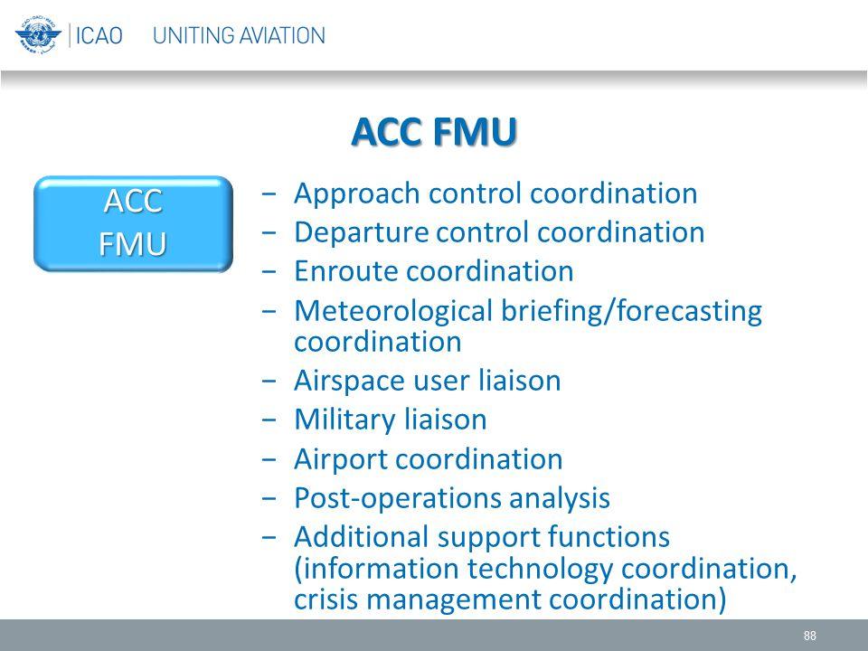 ACC FMU ACC FMU Approach control coordination