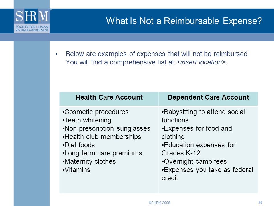 What Is Not a Reimbursable Expense