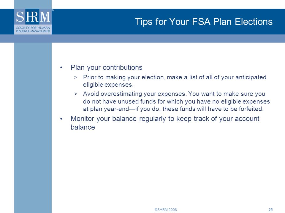 Tips for Your FSA Plan Elections