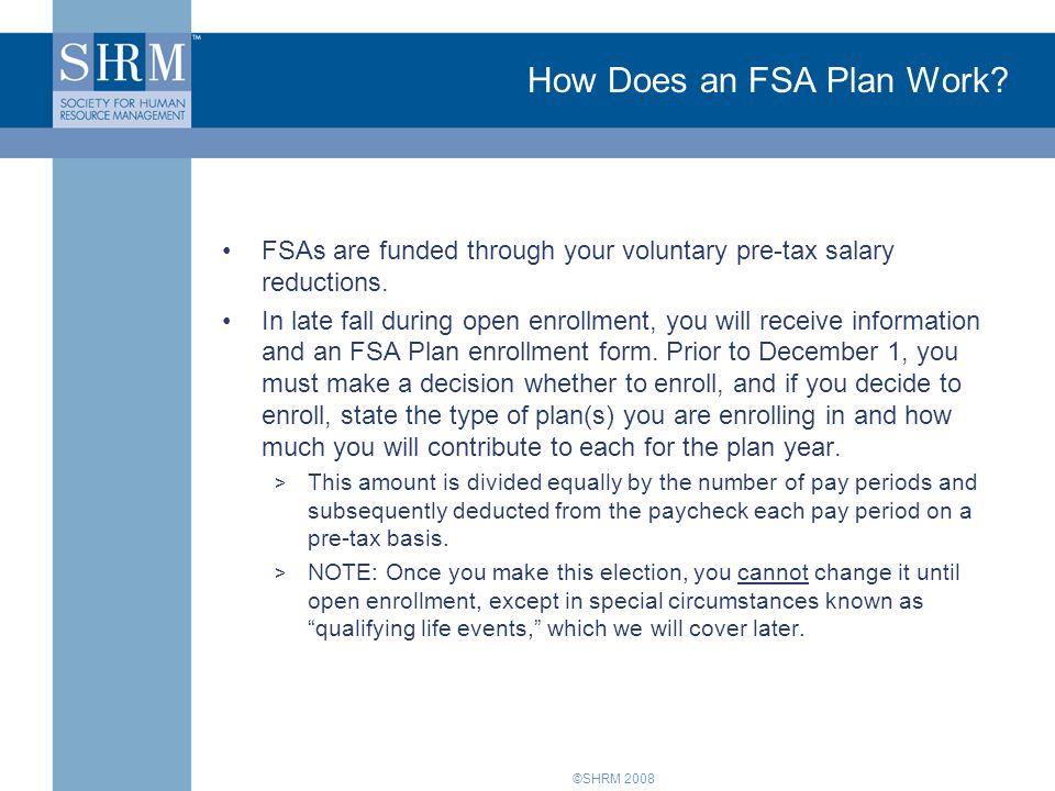 How Does an FSA Plan Work