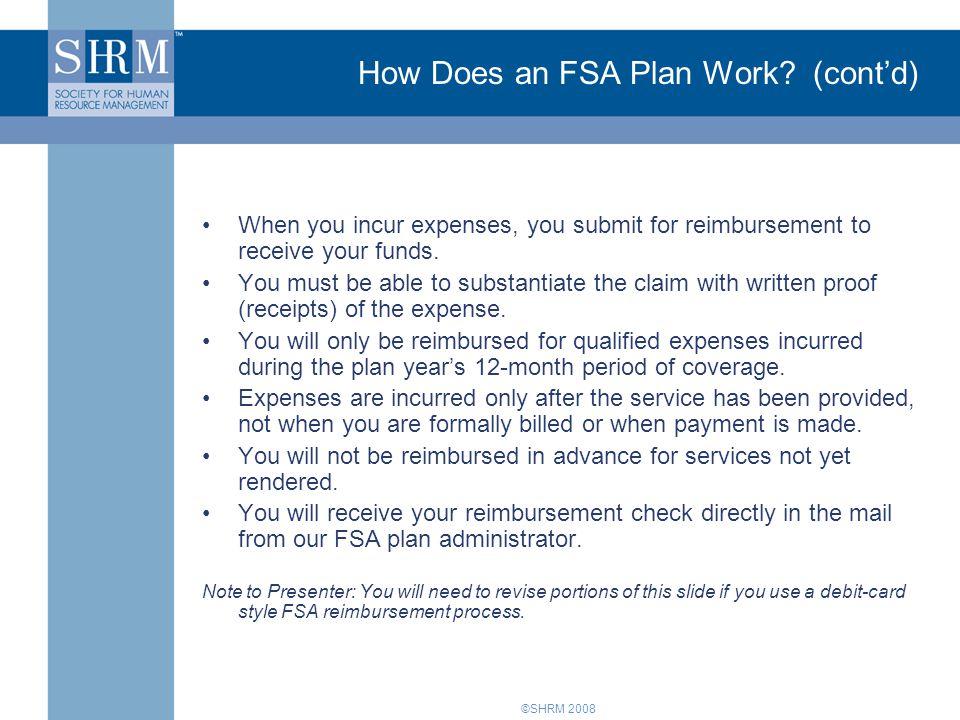 How Does an FSA Plan Work (cont'd)