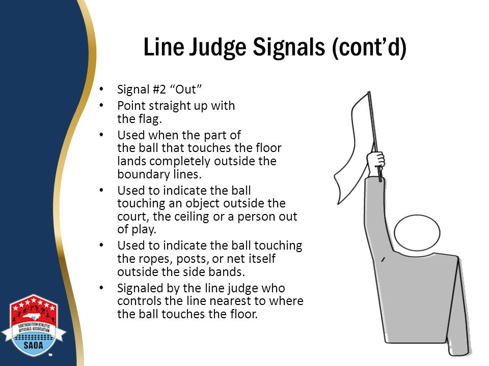 Line Judge Signals (cont'd)