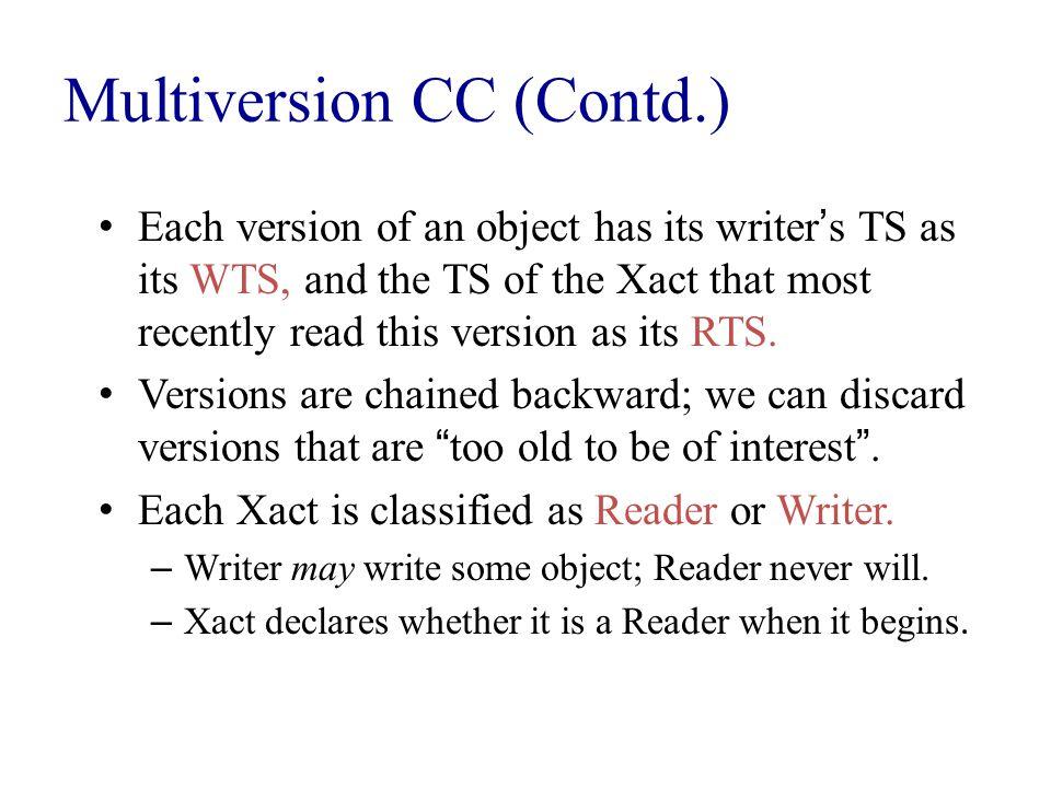 Multiversion CC (Contd.)