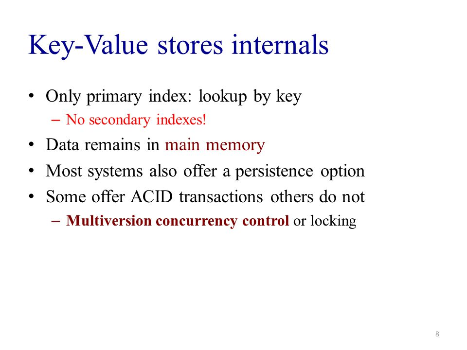 Key-Value stores internals