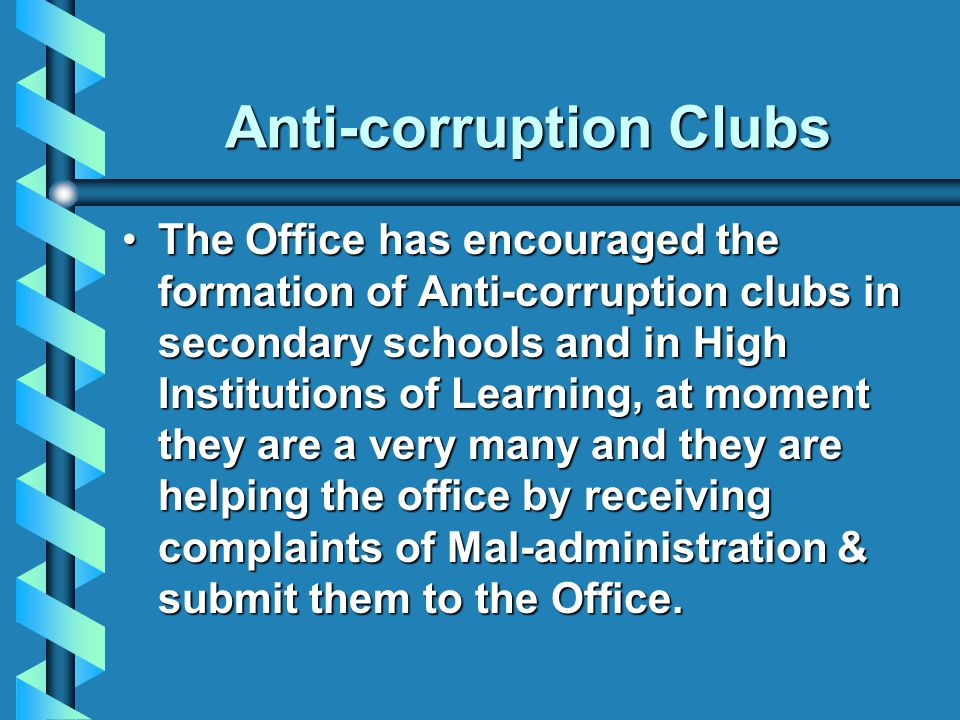 Anti-corruption Clubs