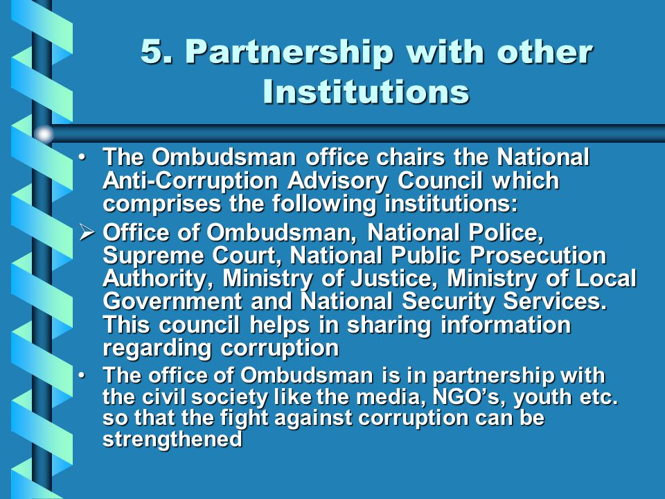 5. Partnership with other Institutions