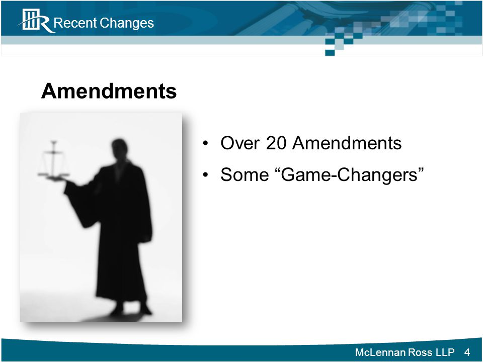 Amendments Over 20 Amendments Some Game-Changers