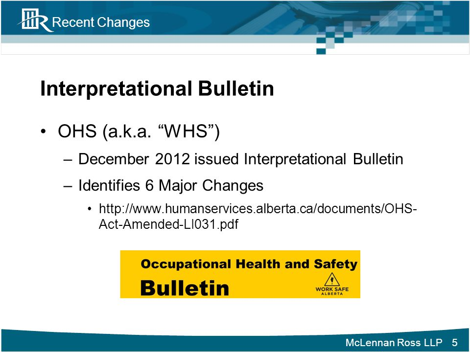 Interpretational Bulletin