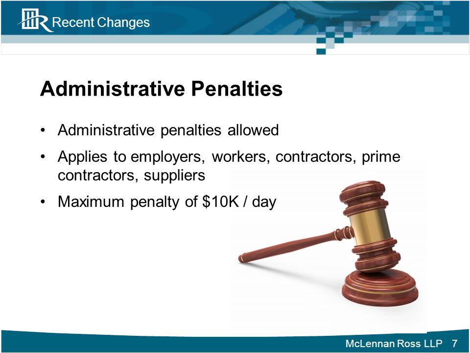 Administrative Penalties