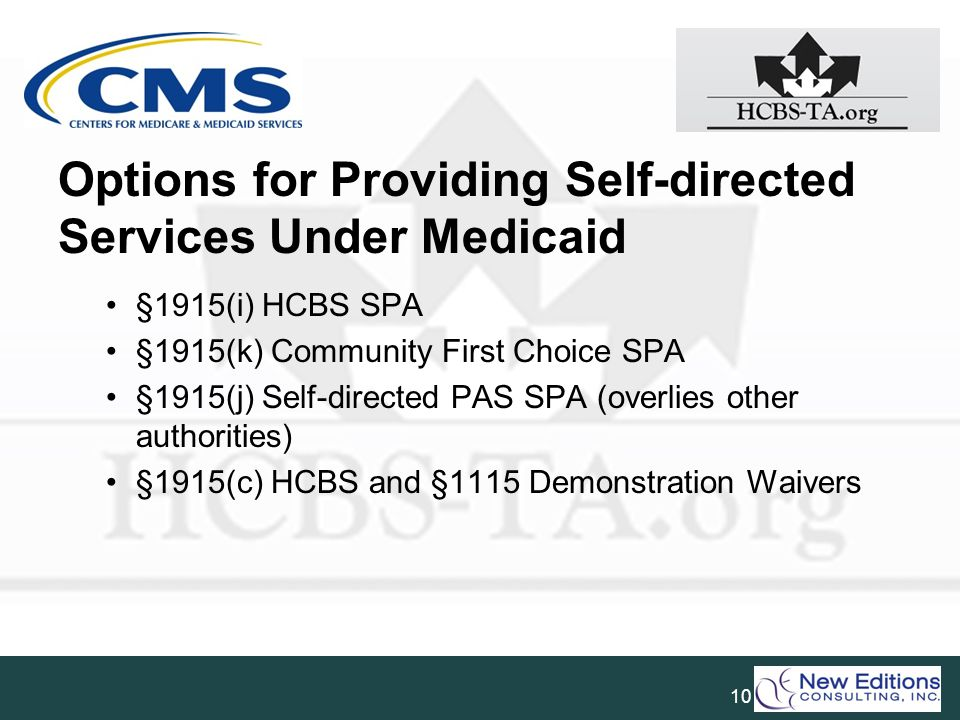 Options for Providing Self-directed Services Under Medicaid