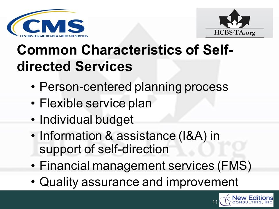Common Characteristics of Self-directed Services