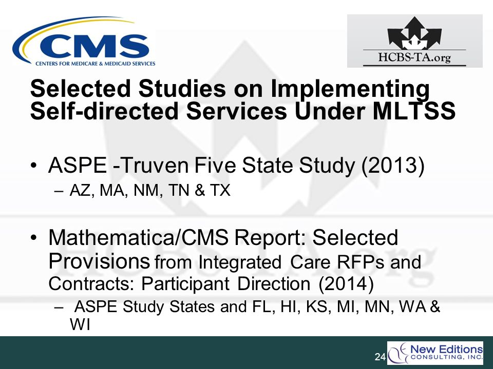 Selected Studies on Implementing Self-directed Services Under MLTSS