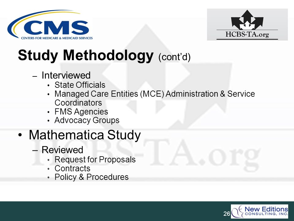 Study Methodology (cont'd)