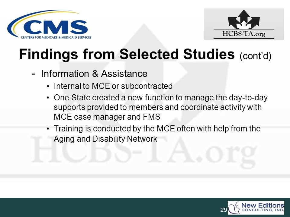 Findings from Selected Studies (cont'd)