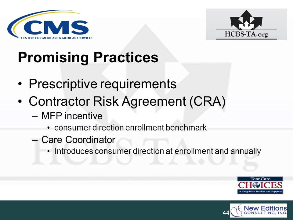Promising Practices Prescriptive requirements