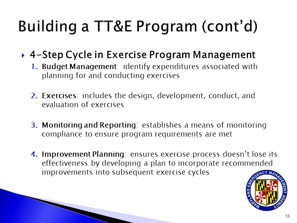 Building a TT&E Program (cont'd)