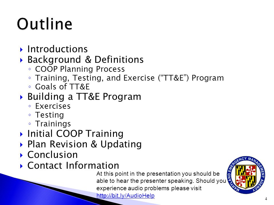 Outline Introductions Background & Definitions Building a TT&E Program