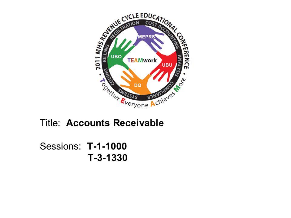 Title: Accounts Receivable Sessions: T-1-1000