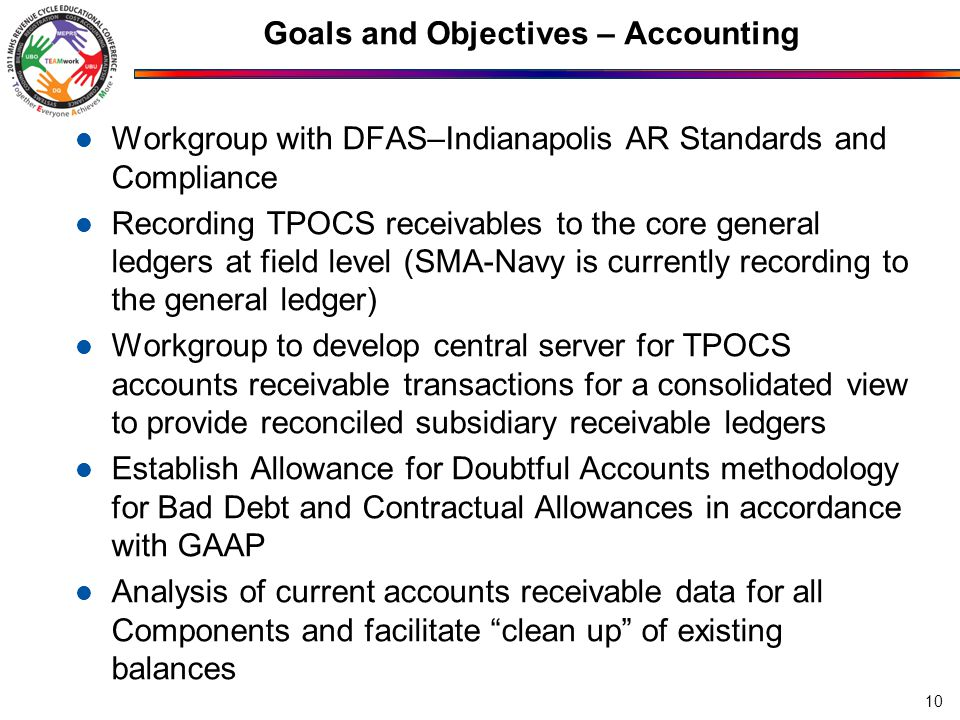 Goals and Objectives – Accounting