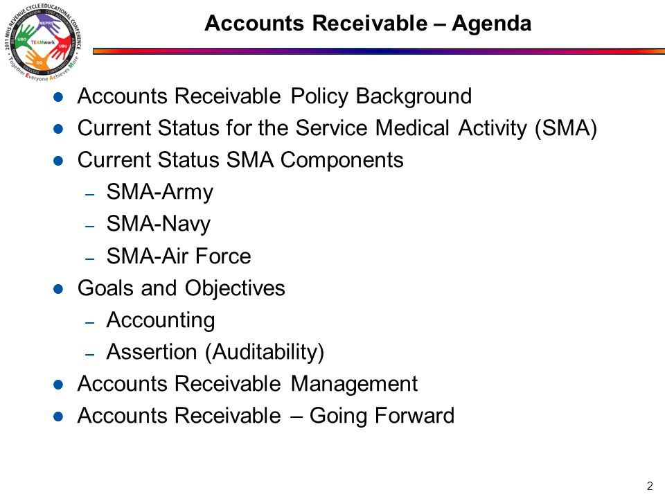 Accounts Receivable – Agenda