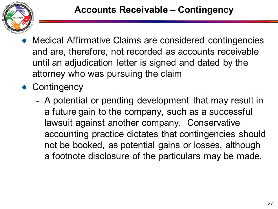 Accounts Receivable – Contingency