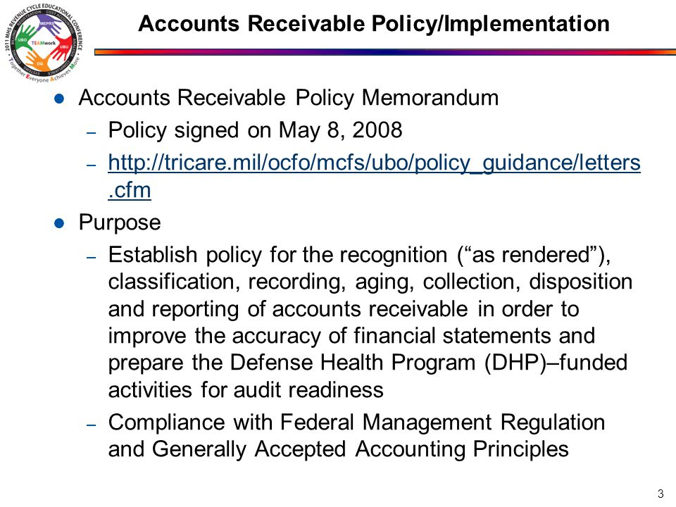 Accounts Receivable Policy/Implementation