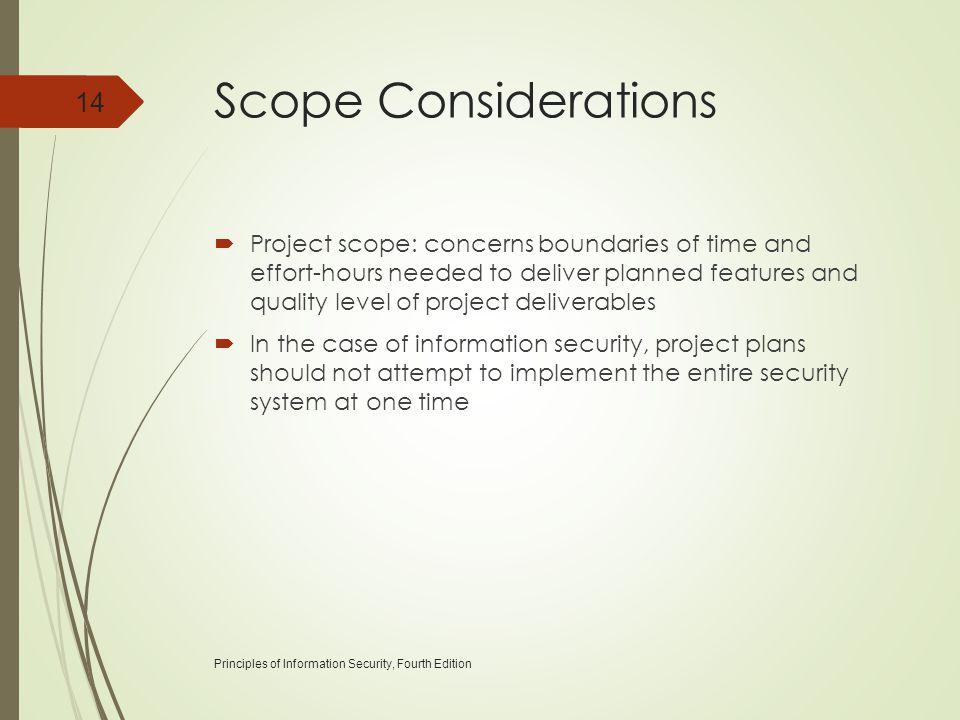 Scope Considerations