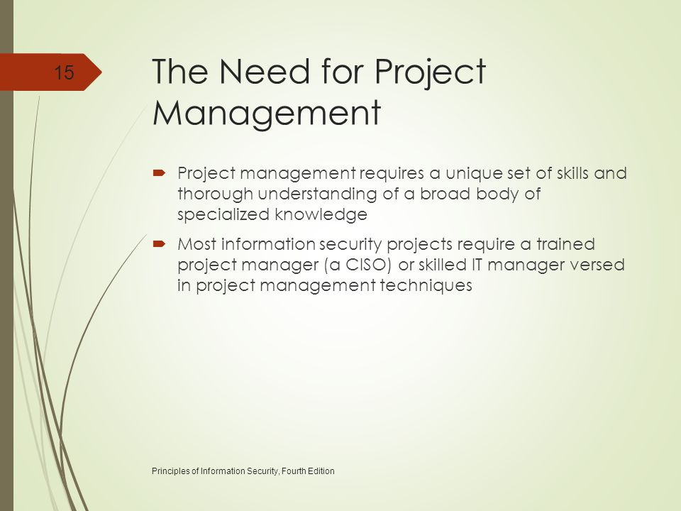 The Need for Project Management