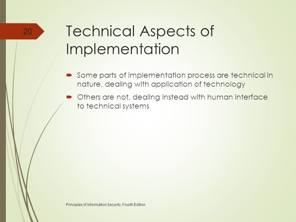 Technical Aspects of Implementation