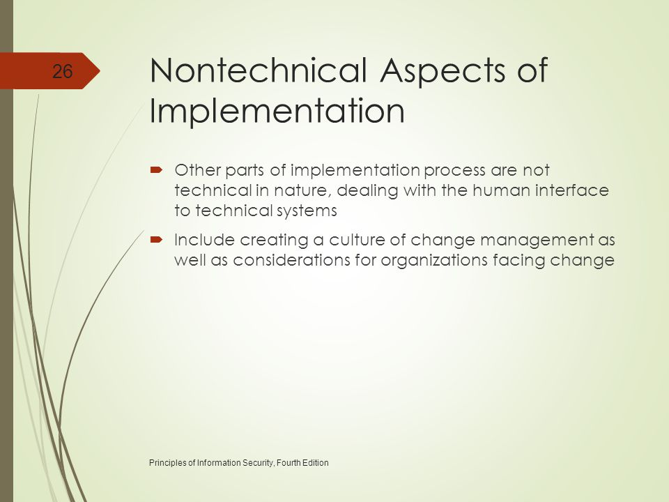 Nontechnical Aspects of Implementation