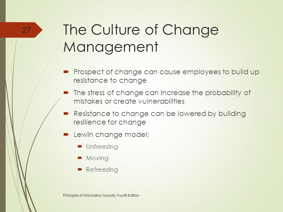 The Culture of Change Management