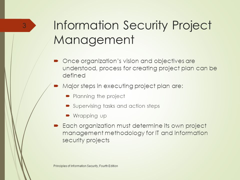 Information Security Project Management