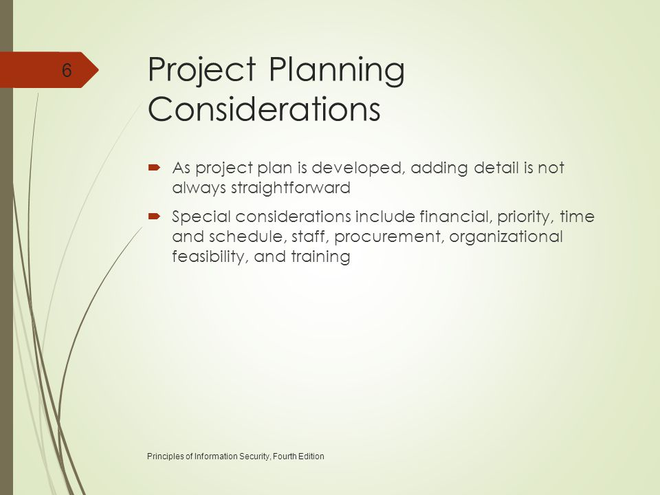 Project Planning Considerations