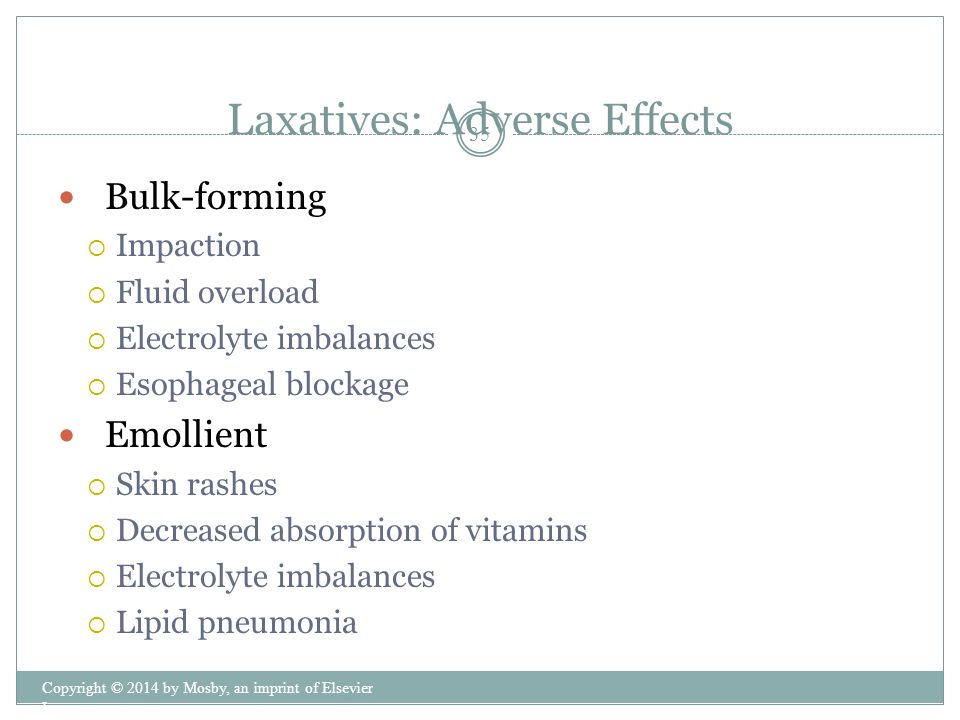 Laxatives: Adverse Effects