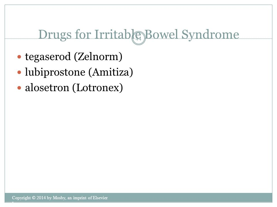 Drugs for Irritable Bowel Syndrome