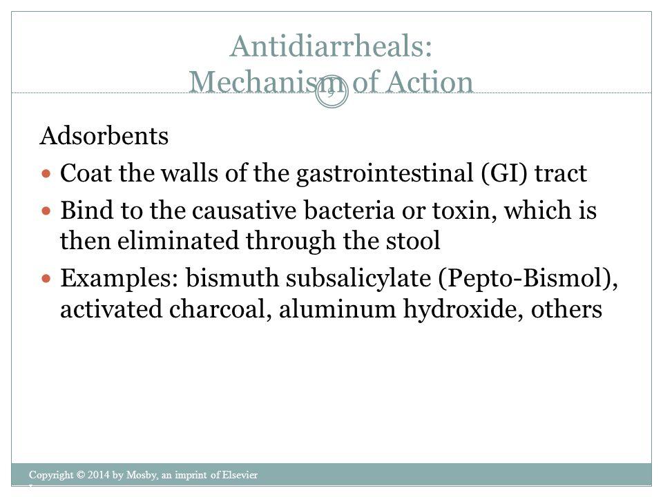 Antidiarrheals: Mechanism of Action