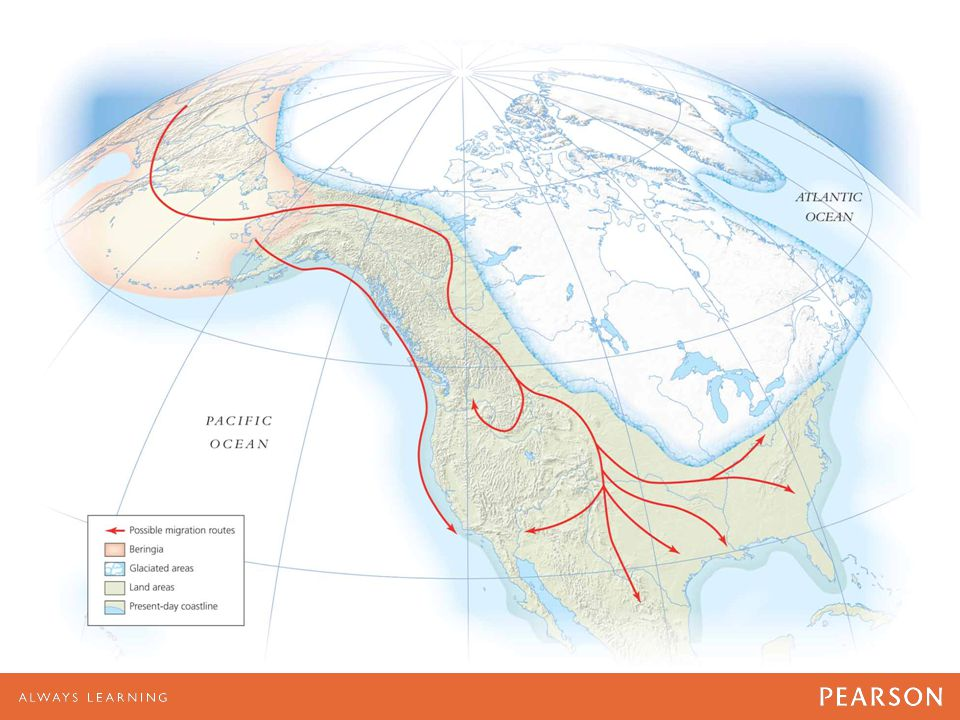 MAP 1.1 Migration Routes from Asia to America