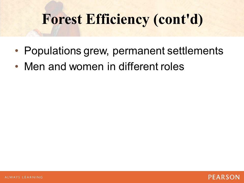 Forest Efficiency (cont d)