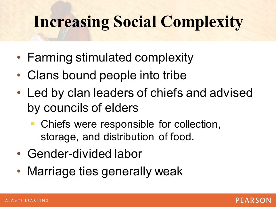 Increasing Social Complexity