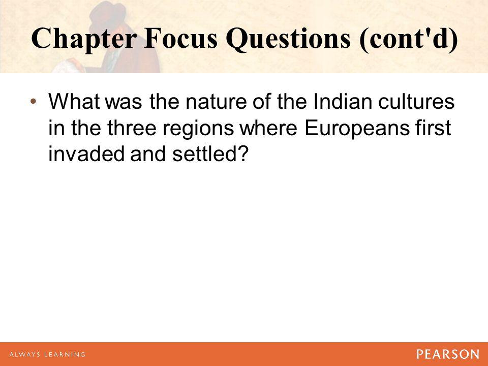 Chapter Focus Questions (cont d)
