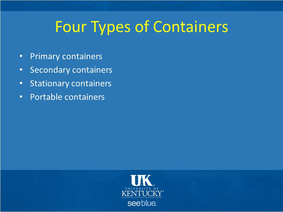 Four Types of Containers