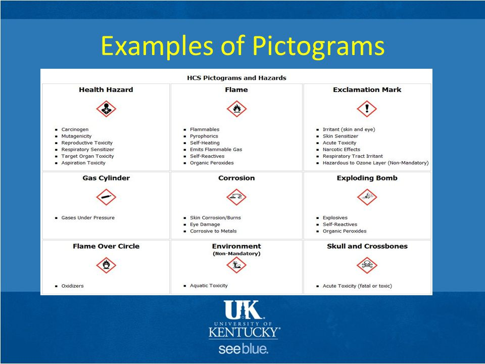 Examples of Pictograms