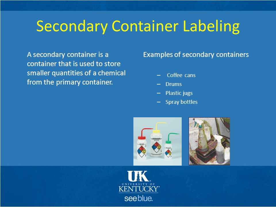 Secondary Container Labeling