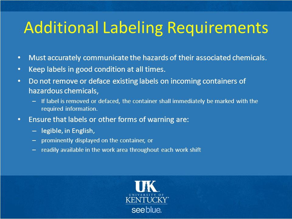 Additional Labeling Requirements