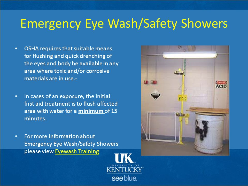 Emergency Eye Wash/Safety Showers