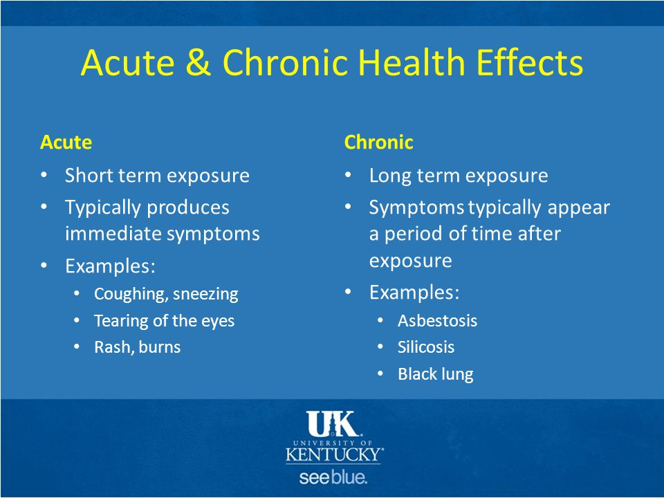 Acute & Chronic Health Effects