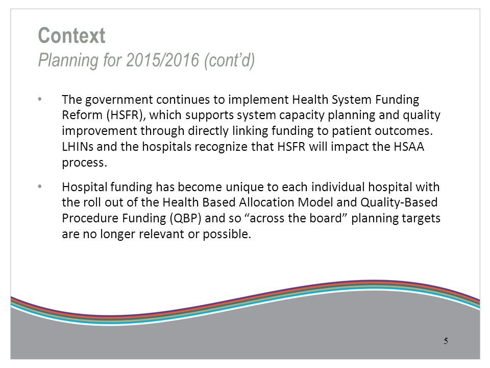 Context Planning for 2015/2016 (cont'd)
