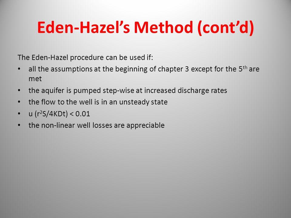 Eden-Hazel's Method (cont'd)