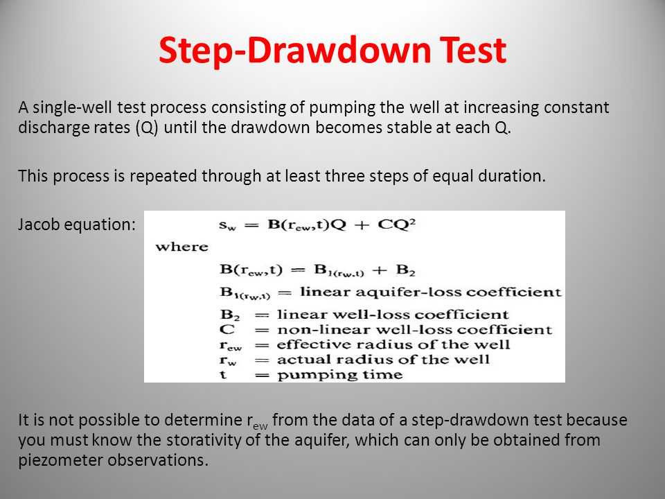 Step-Drawdown Test